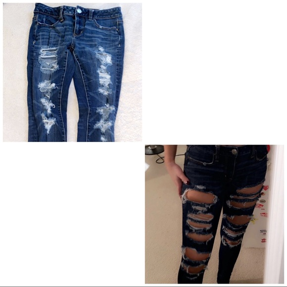 American Eagle Outfitters Denim - american eagle ripped jeans